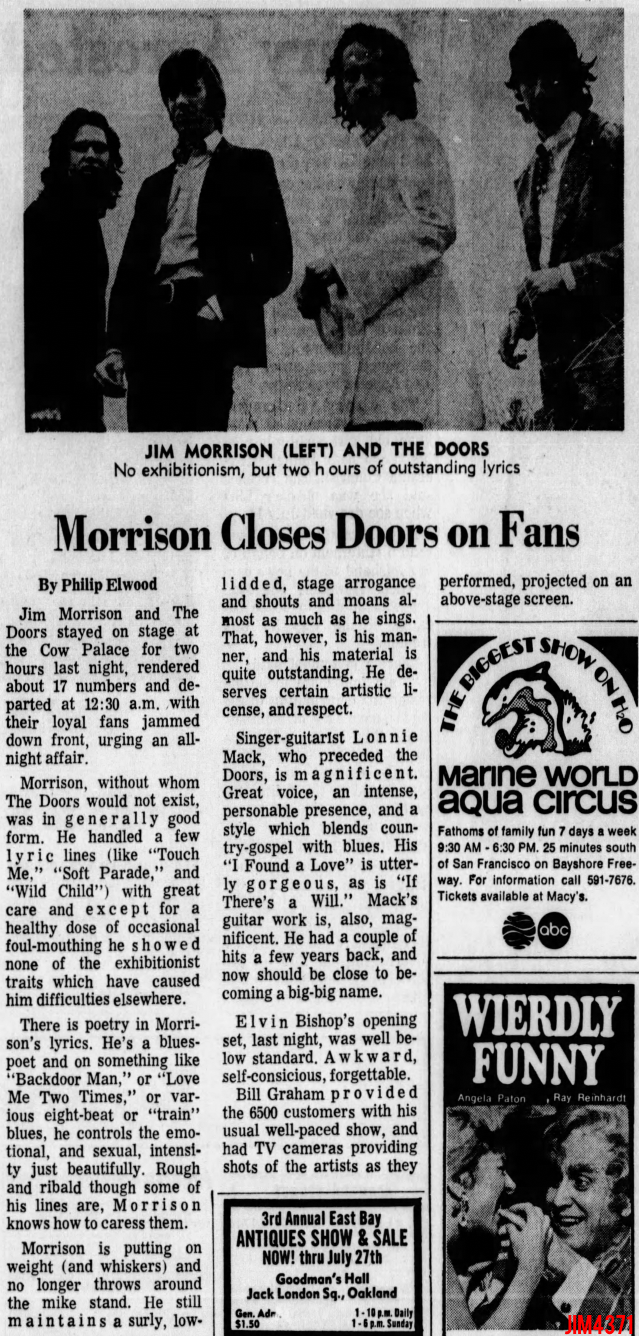 The Doors | Cow Palace 1969