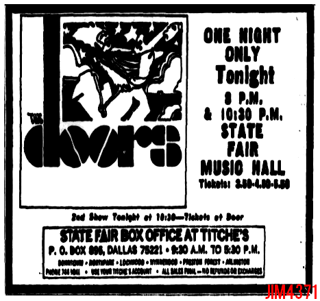 Dallas State Fair Music Hall - Print Ad