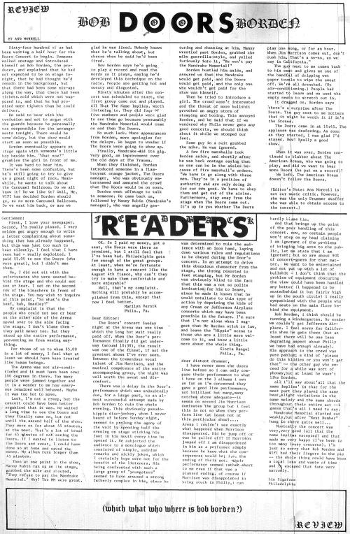 The Doors - Philadelphia Arena 1968 - Review