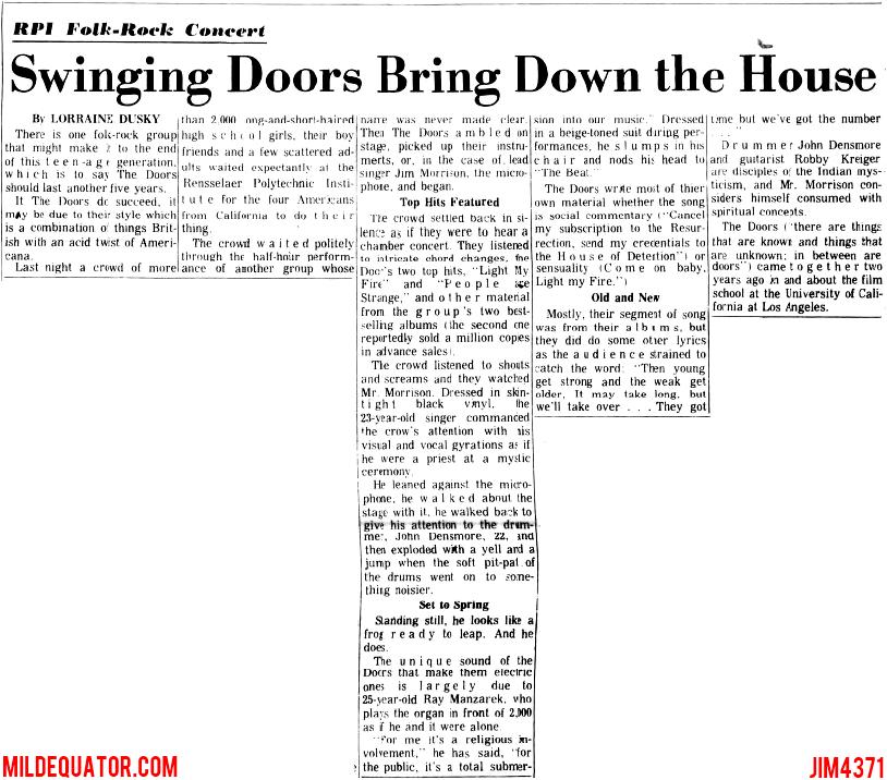 Swinging Doors Bring Down The House