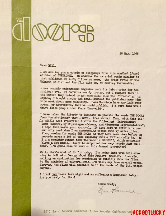 Bill Siddons / Leon Barnard Correspondence