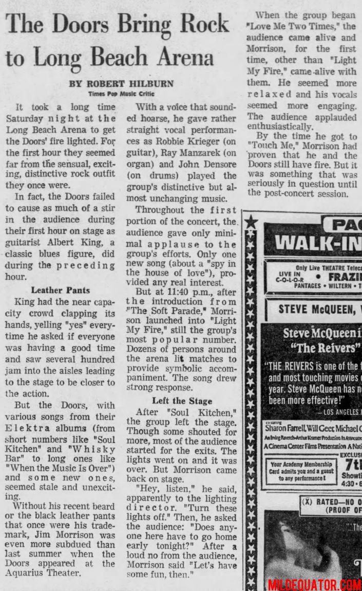 The Doors | Long Beach Sports Arena 1970
