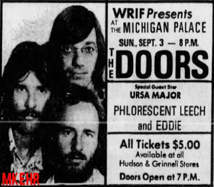 The Doors - Michigan Palace 1972 - Print Ad