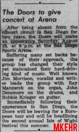 San Diego 1970 - Article