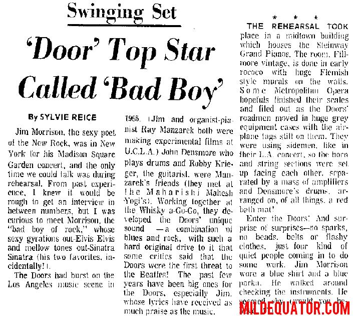 Madison Square Garden 1969 - Article