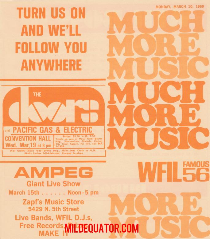 Philadelphia 1969 Cancelled - Print Ad