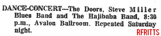 The Doors - Avalon Ballroom 1967