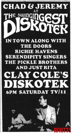 Clay Cole's Diskotek June 1967 - Print Ad