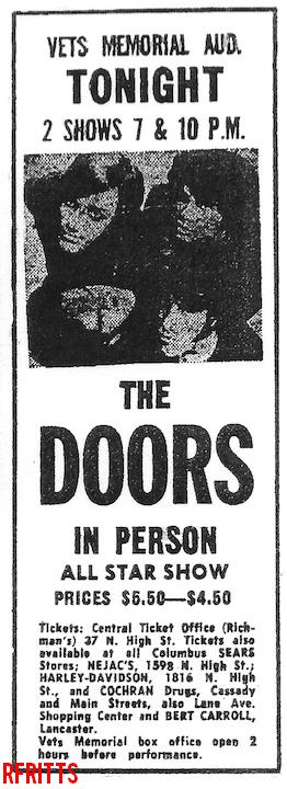The Doors - Columbus 1968