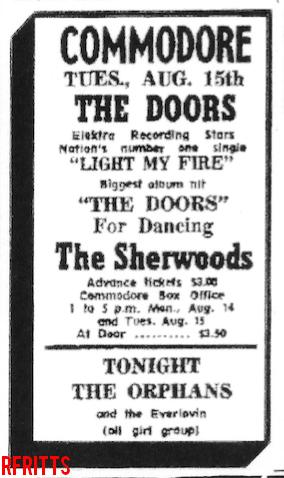 Commodore Ballroom 1967 - Print Ad