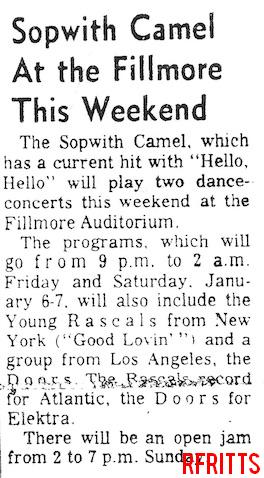 Fillmore Auditorium - Article