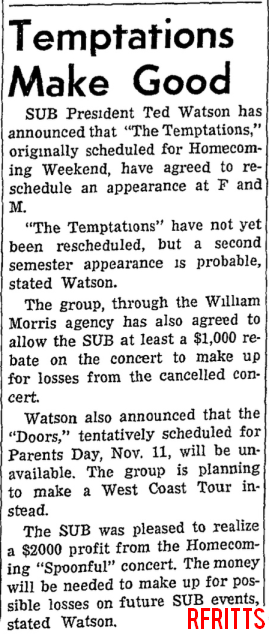 Franklin & Marshall College 1967 - Article