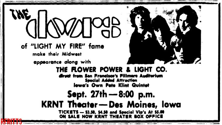 The Doors - Des Moines 1967