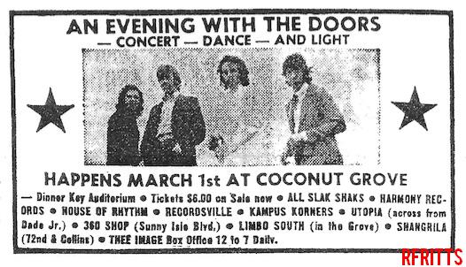 The Doors - Miami 1969