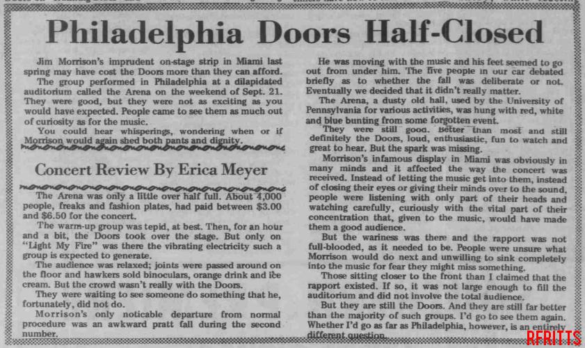 Philadelphia Arena 1969 - Review