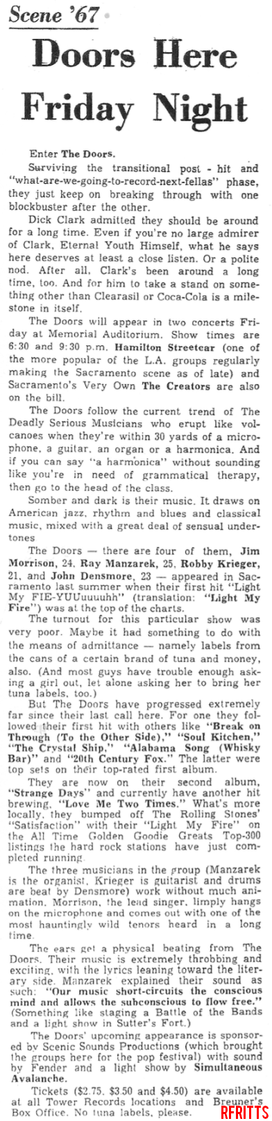 Sacramento 1967 - Article