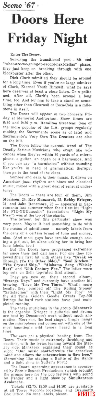 The Doors - Sacramento 1967