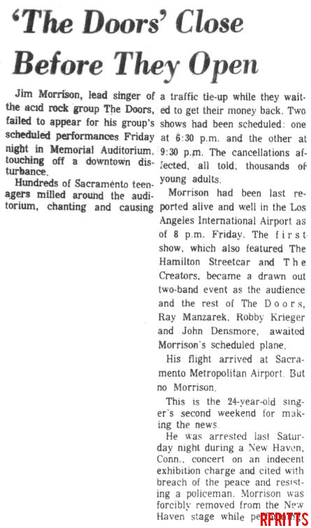 Sacramento 1967 - Review