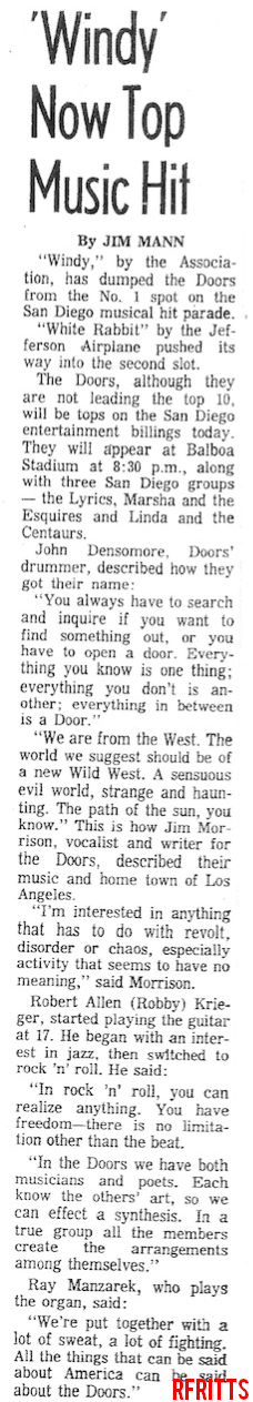 San Diego 1967 - Article