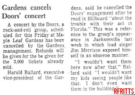 The Doors - Toronto 1969