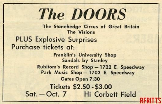 The Doors - Tucson 1967