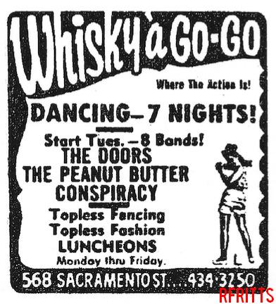 Whisky A Go Go (San Francisco) - Print Ad