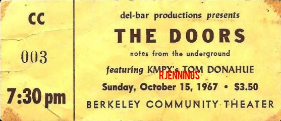 Berkeley Community Theatre - Ticket