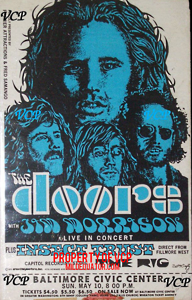The Doors Baltimore Civic Center - Poster