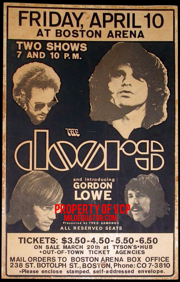 Birmingham Stadium - Poster  sc 1 st  MildEquator.com & The Doors | Boston Arena 1970