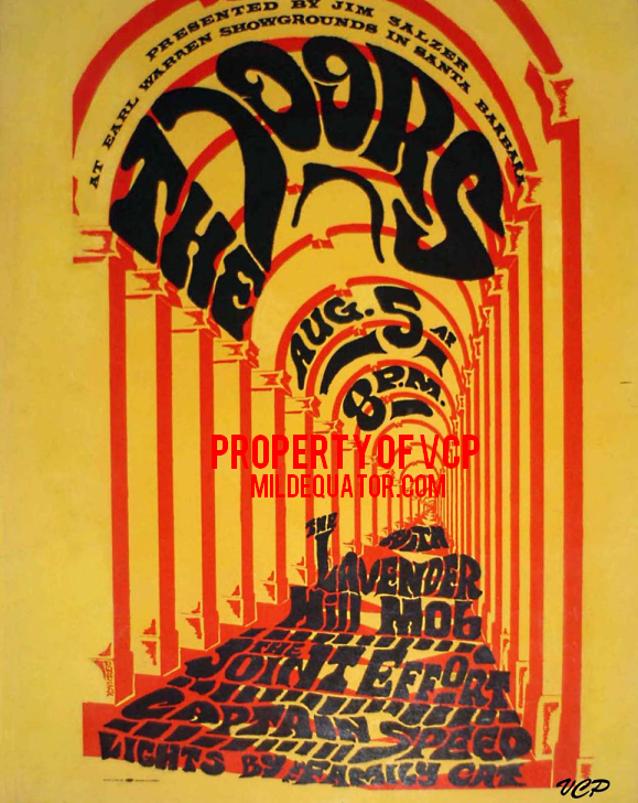 The Doors - Earl Warren Showgrounds 1967 - Poster
