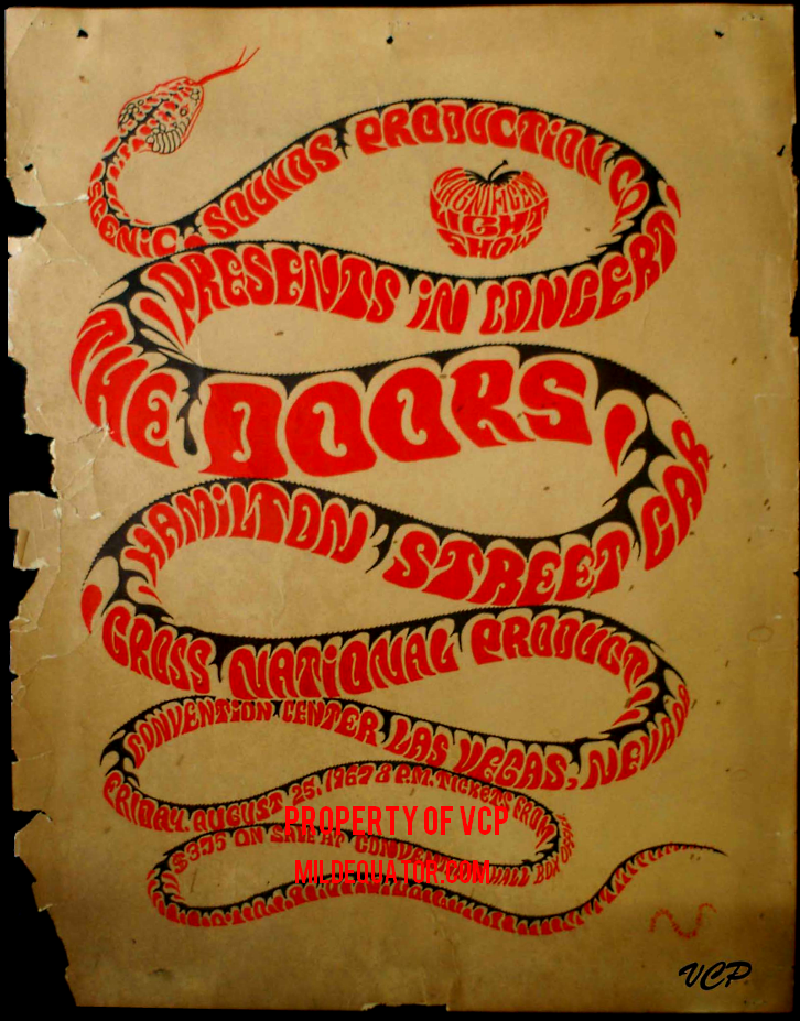 The Doors - Las Vegas Convention Center 1967 - Poster : doors poster - Pezcame.Com